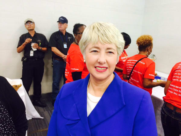 Annise Parker new hairstyle