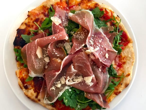 Houston, MFACafe, October 2015, prosciutto pizza