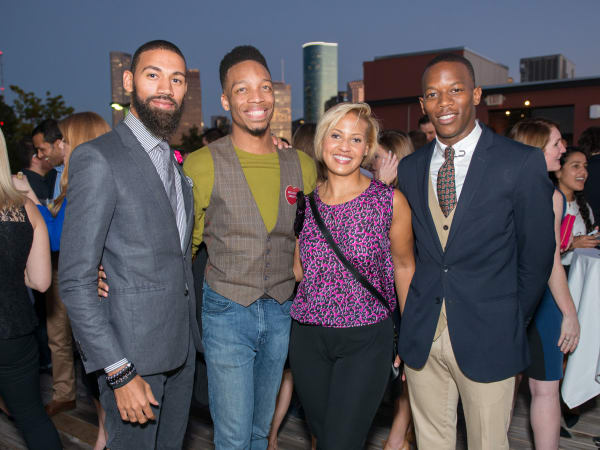 News, Shelby, CultureMap Social, B&B Butchers, Sept. 2015 M. David Rochez, Gabrielle Gunn, Ryan O. Harris, Josh Robertson