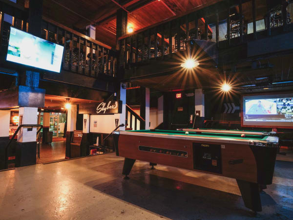 Midway Field House Austin sports bar East Riverside interior TV 2015