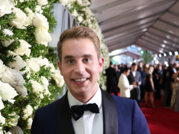Ben Platt at Tony Awards in Hamilton Shirt