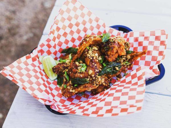 Soursop food truck chicken wings