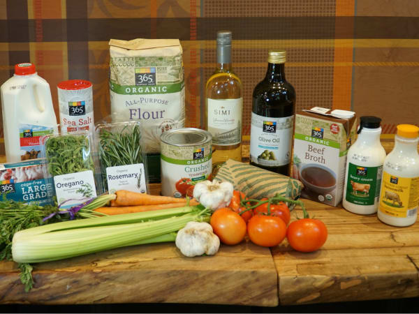 Ingredients for Lasagna Bolognese