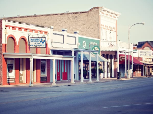 Main Street in Bastrop Texas