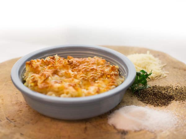Pearl food hall Bottling Department The Good Kind macaroni cheese