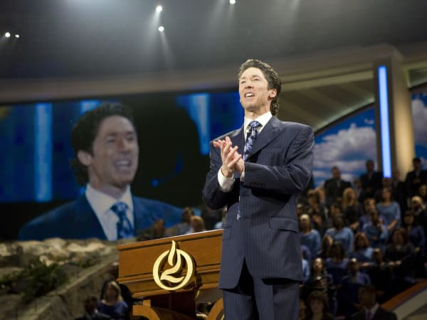 Joel Osteen preaching at Lakewood Church