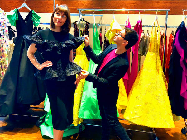 Houston, Christian Siriano at Elizabeth Anthony