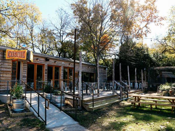 Cosmic Coffee + Beer Garden exterior