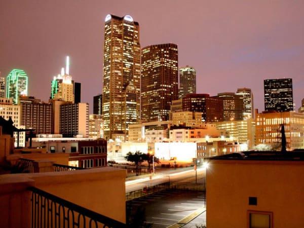 Downtown Dallas at night