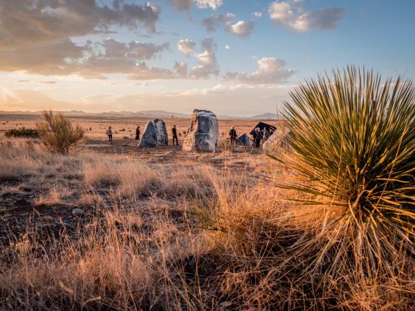 Stone Circle art installation Marfa Stonehenge