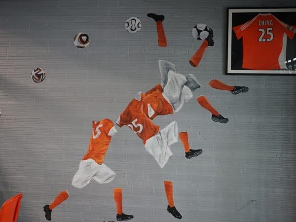 Pitch 25 bicycle kick mural