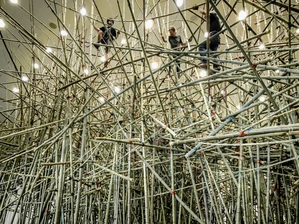 Big Bambu installation