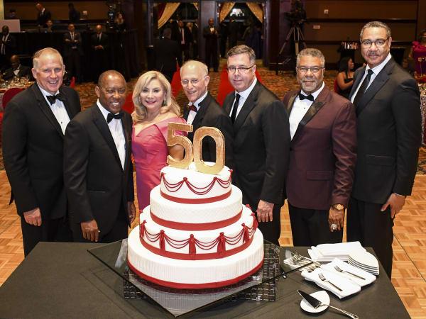 John Minge, Mayor Turner, Joanne & Peter Linden, Jerry Martin, Judson Robinson, Calvin Guidry