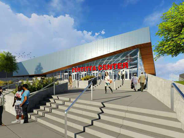 UH Fertitta Center rendering exterior