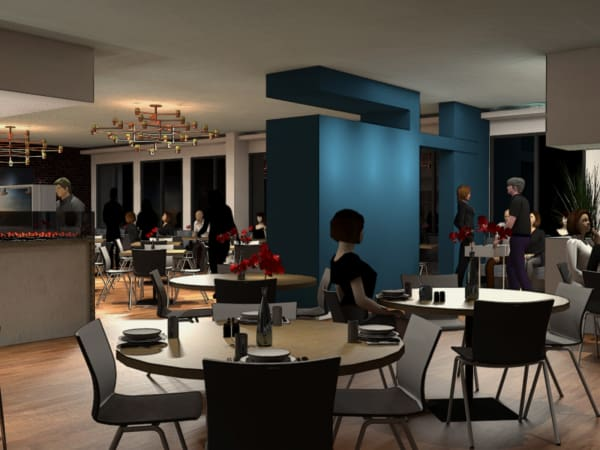 Harry's restaurant renovations rendering