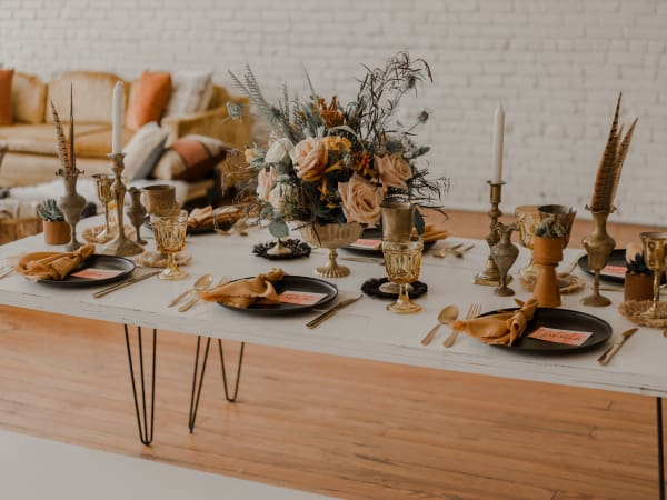 Fall party tablescape