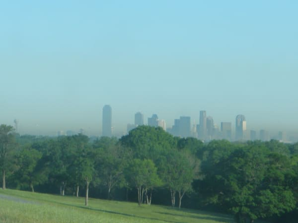 Smog in Dallas, Texas