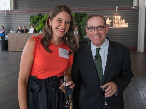 Texas Tribune Festival 2018 VIP Cocktail Hour at Brazos Hall Jessica Shortall Evan Smith