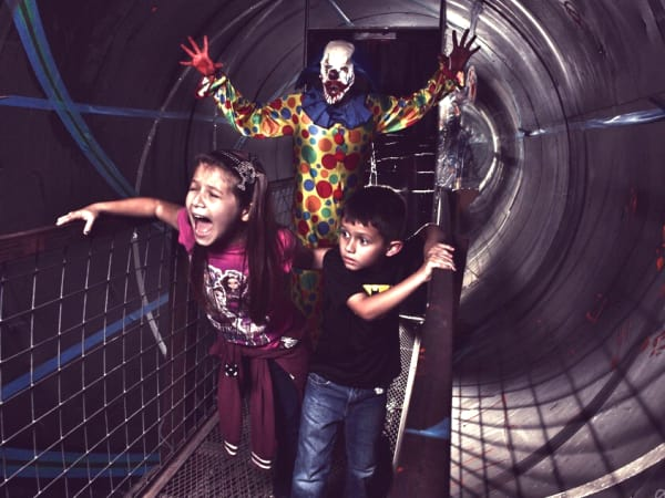 ScreamFest scary clown chasing kids