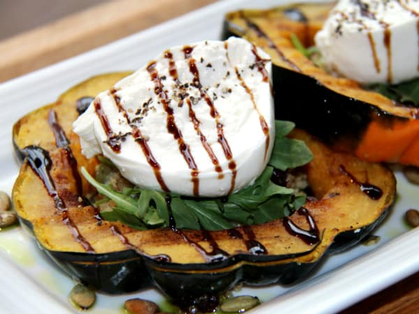 Pinstripes burrata salad