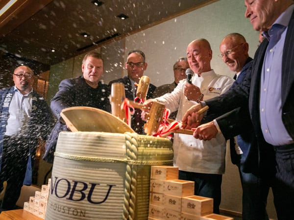 Nobu opening party barrel opening