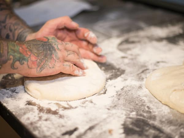 SoHill Cafe pizza rolling dough