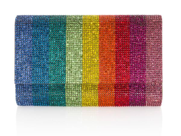Elizabeth Anthony: Judith Leiber Rainbow Fizzoni Handbag