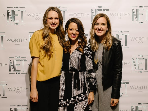 Eva Walker, Melissa Ice, Sarah Bowden, The Net Worthy Co. launch party