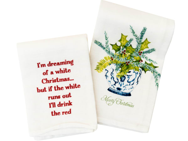 Renovate holiday tea towels