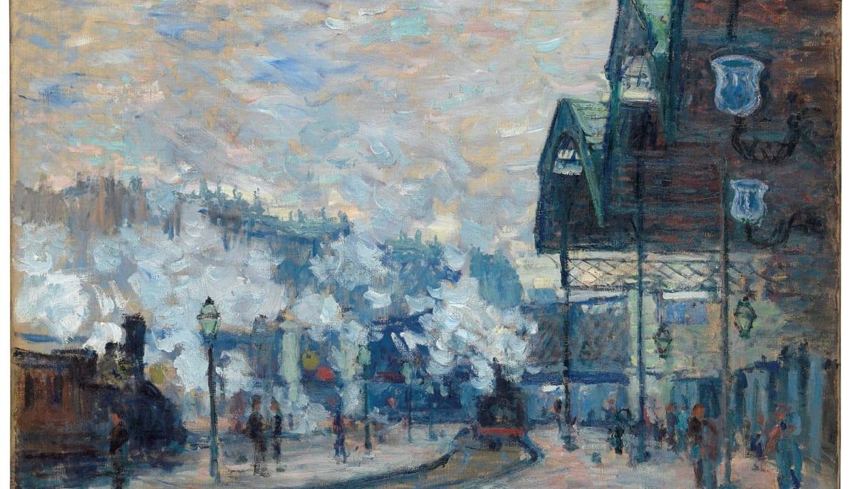 Claude Monet, La Gare Saint-Lazare, Vue extérieure, 1877