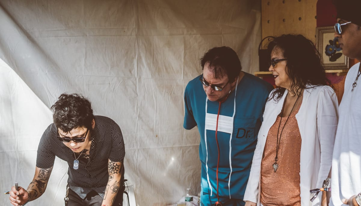 Austin's top chef and Prince's band roll it out backstage at ACL