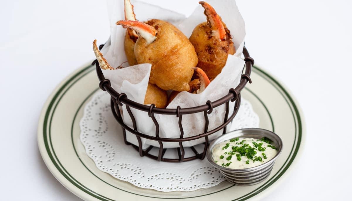 BB Lemon blue crab beignets