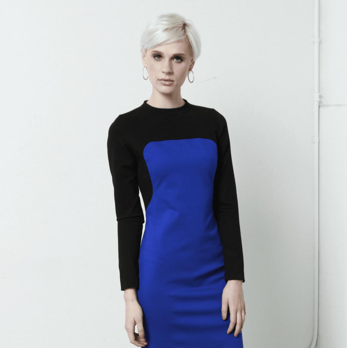 Kevan Hall bib dress