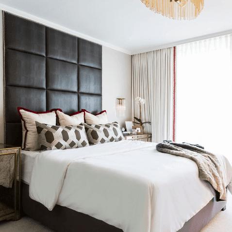 Houzz Houston house home 1960s London Texas style master bedroom midcentury
