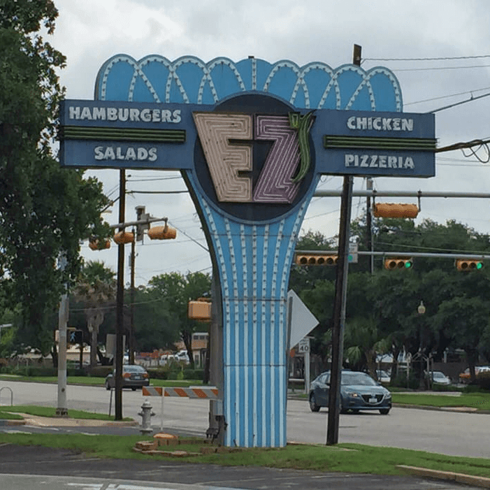 EZ's Austin restaurant sign