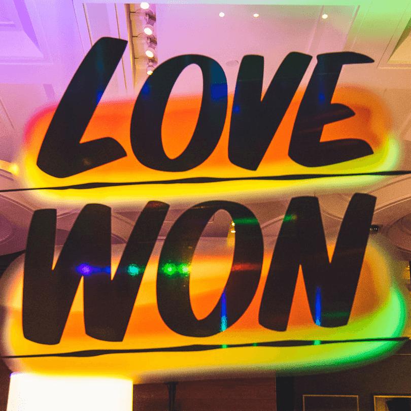 Turn it Up for Change Human Rights Campaign W Austin hotel Austin Pride 2016 Baron Von Fancy artwork Love Won