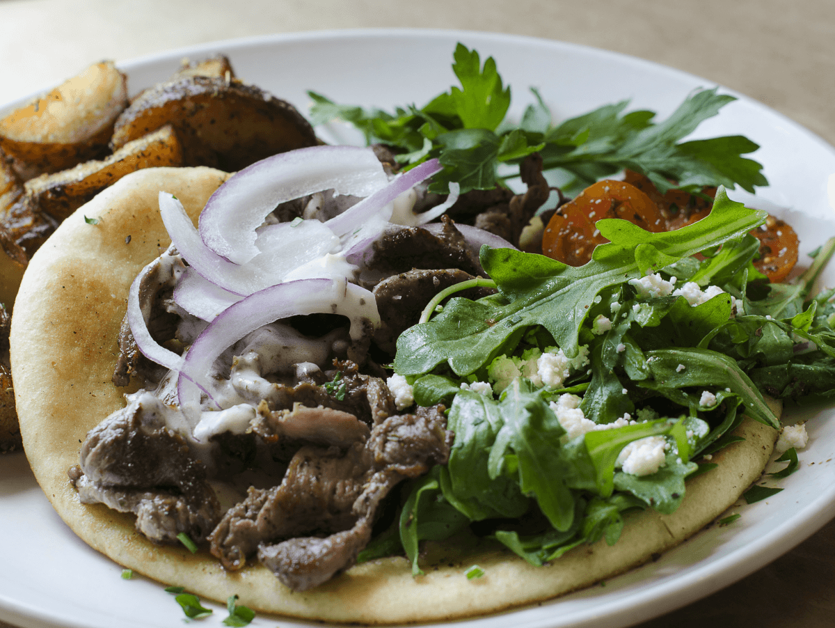 Gyro at Ziziki's restaurant in Dallas