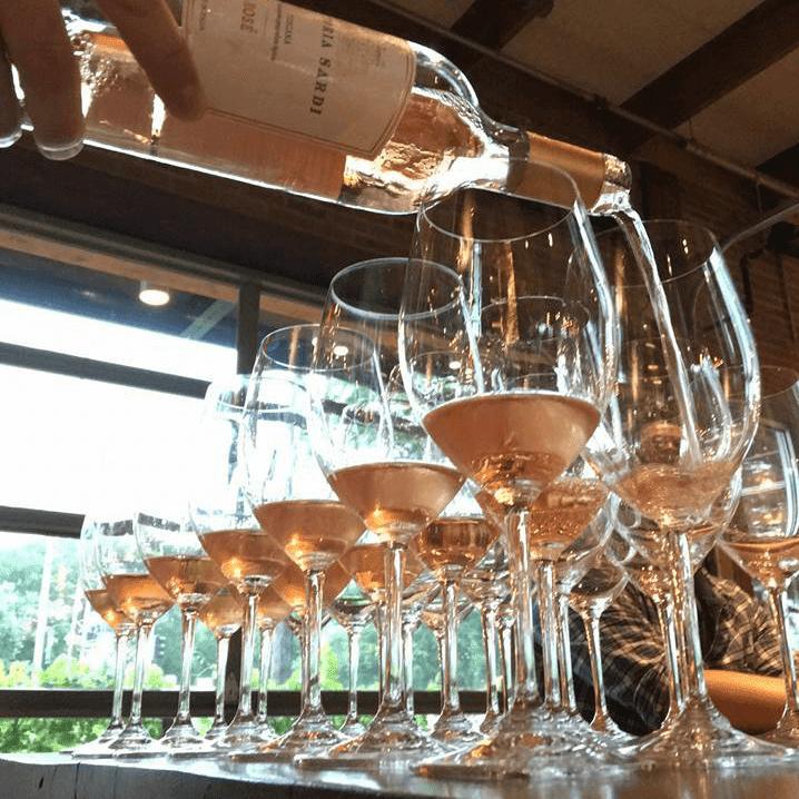 Rosé wine at Ida Claire
