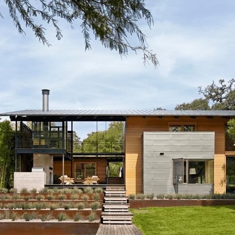 Austin house home Houzz modern Lake Austin exterior