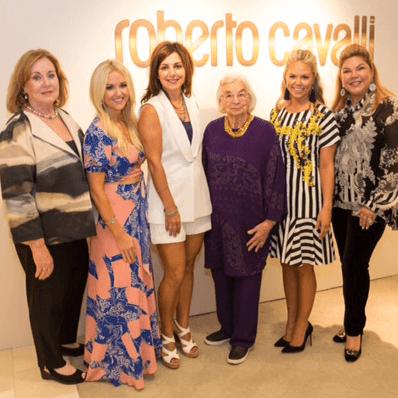 Roberto Cavalli fall fashion show DKR Fund benefit 2016 Debbie Hanna Jenna Leiker Vicki Strong Edith Royal Jamie Chandlee Ava Late
