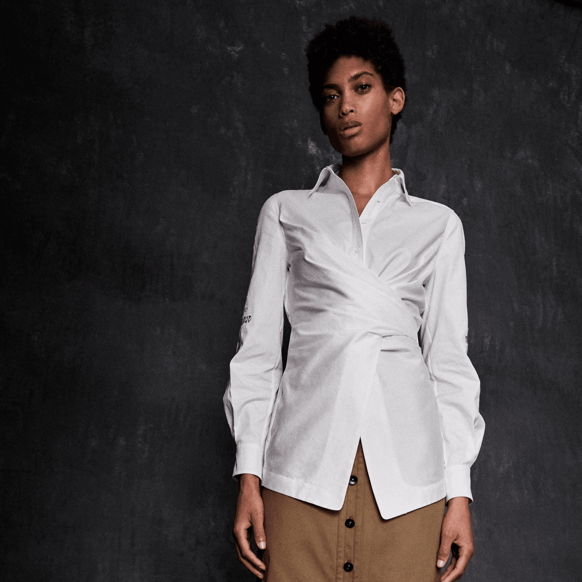 Yigal Azrouel spring 2017 white shirt