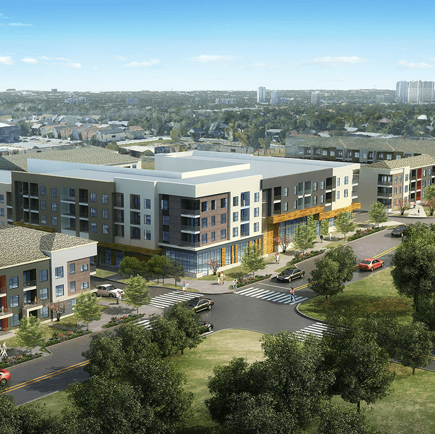 Platform development East Austin exterior rendering