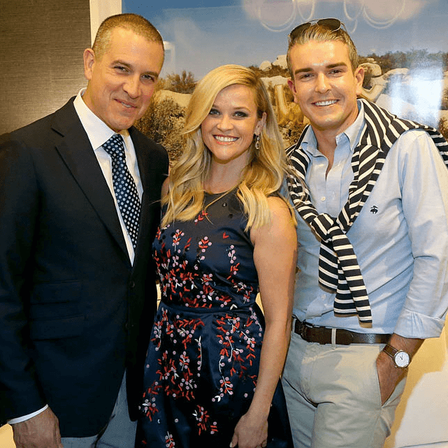 Jim Toth, Reese Witherspoon, Gray Malin at Draper James store opening