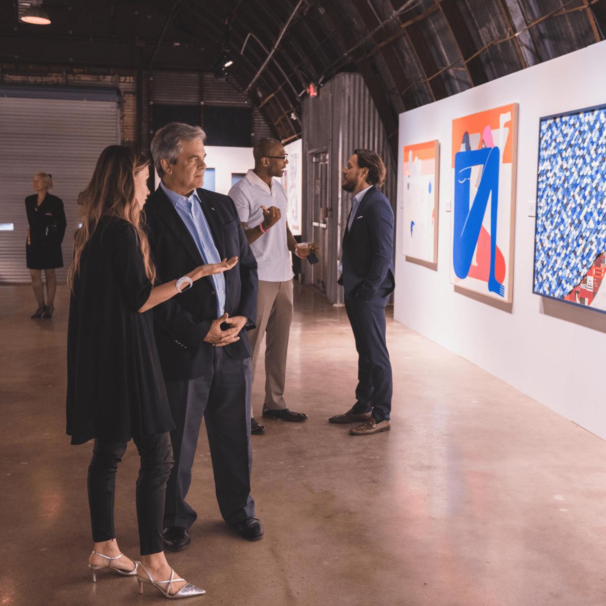 Pop Austin International Art Show 2016 Lana Carlson Steve Adler