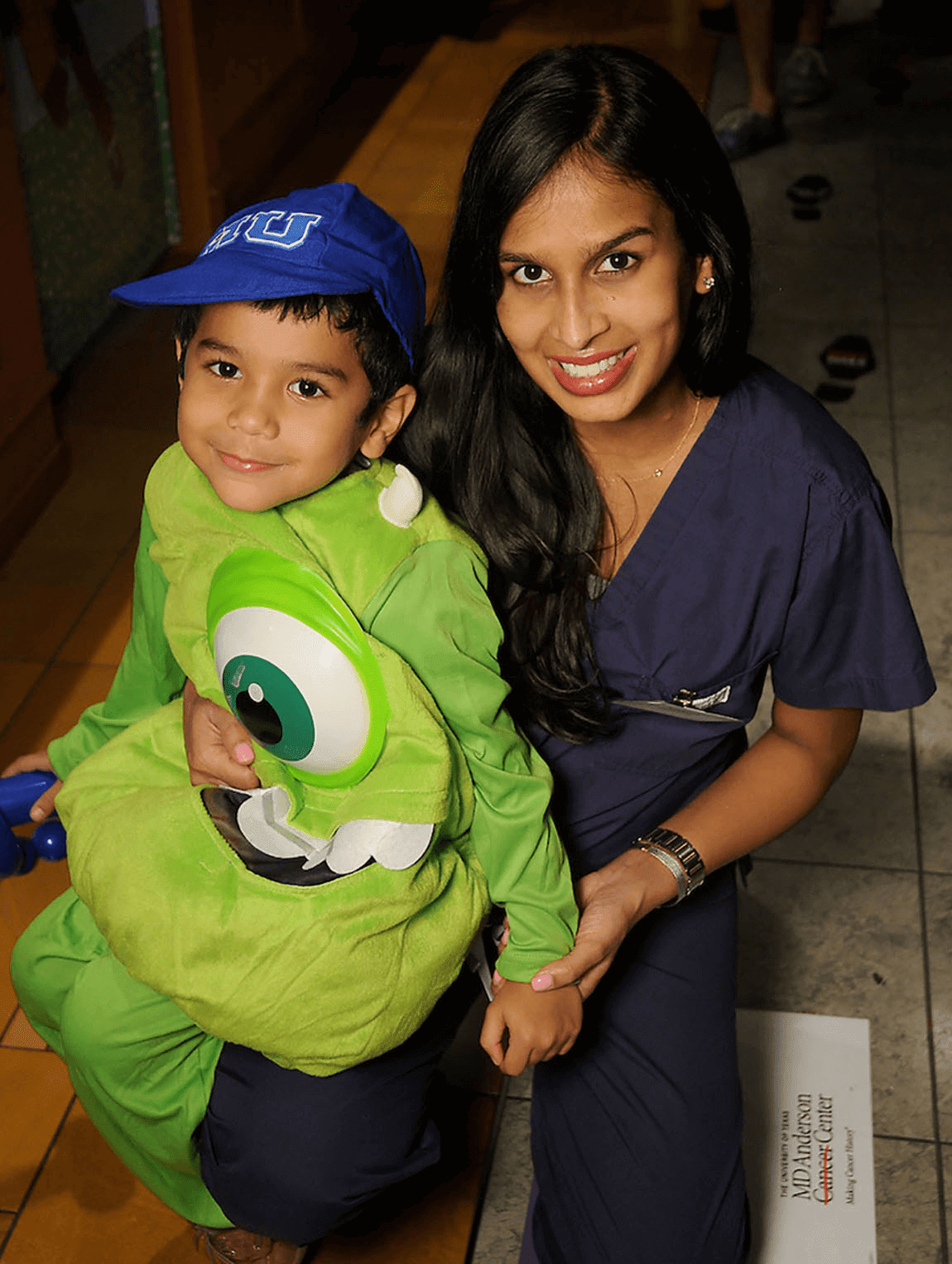 Houston, MD Anderson Children's Cancer Hospital Halloween Spooktacular, Oct. 2016, Meera Avila, Jayden Avila