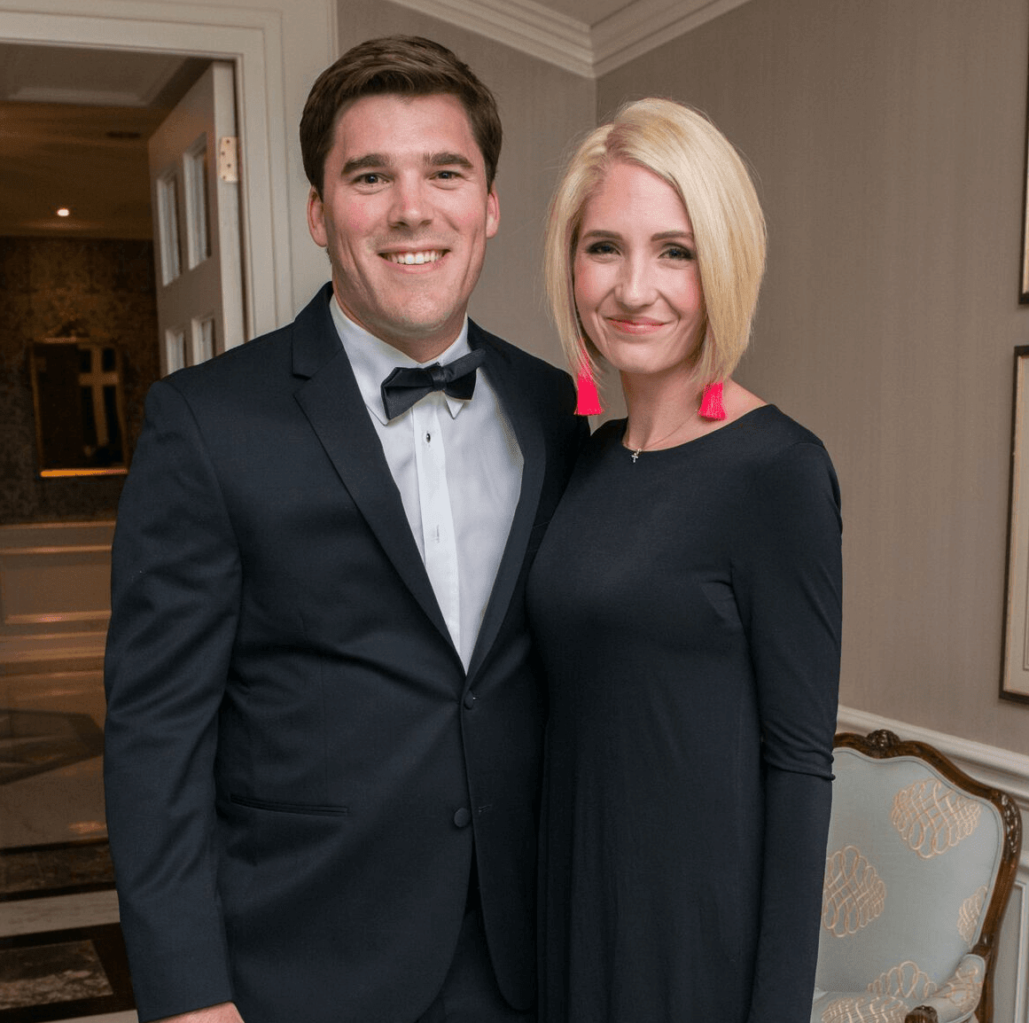 Chase Clements and Lauren Clements at Rice Honors Gala