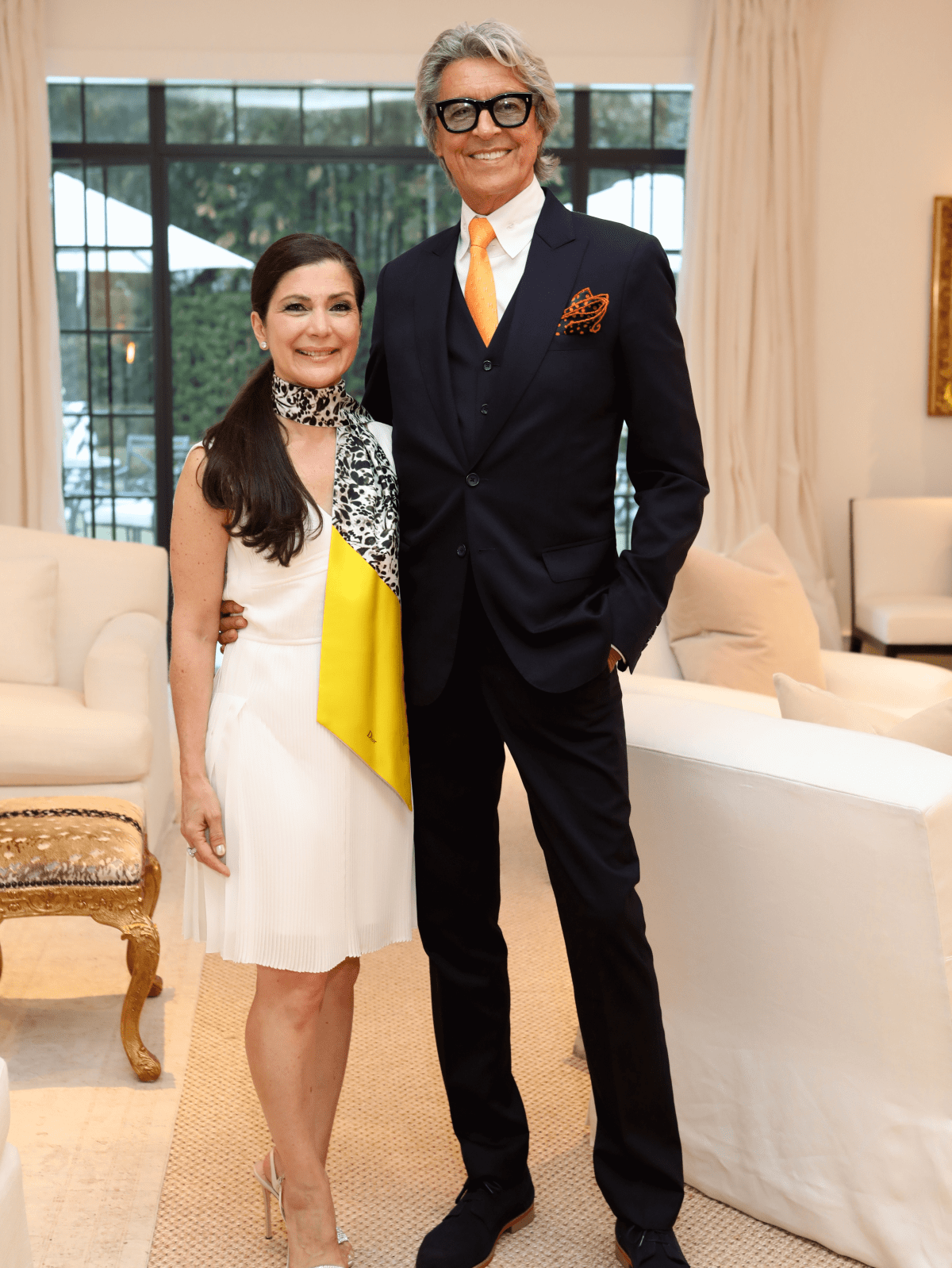 Houston, Cynthia and Anthony Petrello cocktail reception for Tommy Tune, Nov. 2016, Cynthia Petrello, Tommy Tune