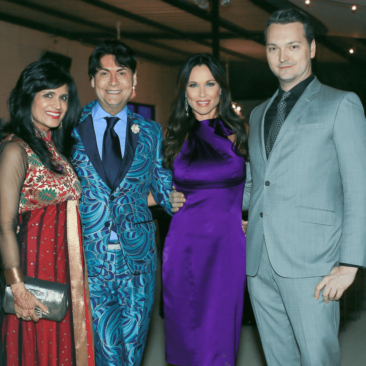 Ruby Bhandari, emcee Steve Kemble, LeeAnne Locken, Chad  Collom