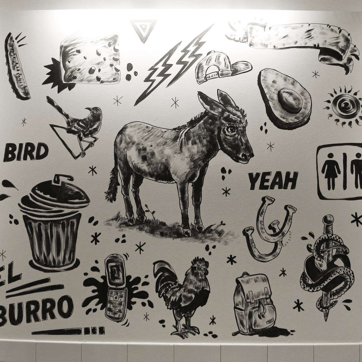 El Burro Tex Mex and Bar restaurant bathroom