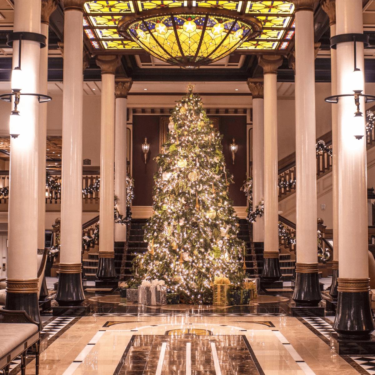 driskill hotel austin christmas tree lobby - Is Whataburger Open On Christmas Day